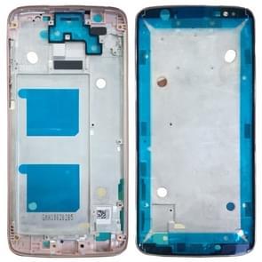 Front behuizing LCD-frame bezel voor Motorola Moto G6 (rosé goud)