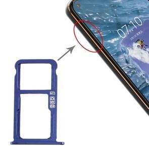 SIM-kaartlade + SIM-kaartlade / Micro SD-kaartlade voor Nokia X7 / 8.1 / 7.1 Plus / TA-1131(Blauw)