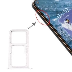 SIM-kaartlade + SIM-kaartlade / Micro SD-kaartlade voor Nokia X7 / 8.1 / 7.1 Plus / TA-1131(Zilver)