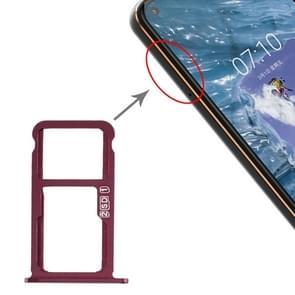 SIM-kaartlade + SIM-kaartlade / Micro SD-kaartlade voor Nokia X7 / 8.1 / 7.1 Plus / TA-1131 (Paarsrood)