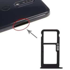 SIM Card Tray + SIM Card Tray / Micro SD Card Tray for Nokia 7.1 / TA-1100 TA-1096 TA-1095 TA-1085 TA-1097 (Black)