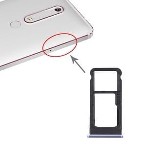 SIM-kaartlade + SIM-kaartlade / Micro SD-kaartlade voor Nokia 6.1 / 6 (2018) / TA-1043 TA-1045 TA-1050 TA-1054 TA-1068 (Blauw)