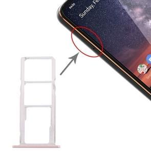 SIM-kaartlade + SIM-kaartlade + Micro SD-kaartlade voor Nokia 3.2 TA-1156 TA-1159 TA-1164 (Roze)