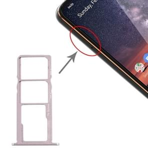 SIM-kaartlade + SIM-kaartlade + Micro SD-kaartlade voor Nokia 3.2 TA-1156 TA-1159 TA-1164 (Zilver)
