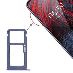 SIM-kaartlade + SIM-kaartlade / Micro SD-kaartlade voor Nokia X6 (2018) / TA-1099 / 6.1 Plus (Blauw)
