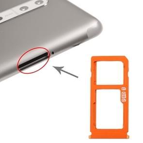 SIM-kaartlade + SIM-kaart lade / Micro SD-kaart lade voor Nokia 8 / N8 TA-1012 TA-1004 TA-1052 (Oranjer)