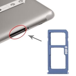 SIM-kaartlade + SIM-kaart lade / Micro SD-kaart lade voor Nokia 8 / N8 TA-1012 TA-1004 TA-1052 (Blauw)
