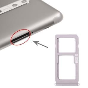 SIM-kaartlade + SIM-kaart lade / Micro SD-kaart lade voor Nokia 8 / N8 TA-1012 TA-1004 TA-1052 (Zilver)