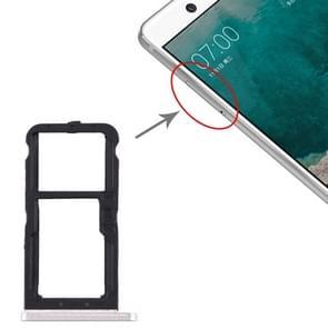SIM-kaartlade + SIM-kaartlade / Micro SD-kaartlade voor Nokia 7 TA-1041 (Wit)