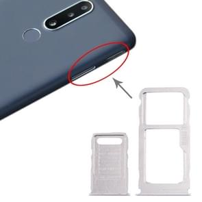 SIM-kaartlade + SIM-kaartlade + Micro SD-kaartlade voor Nokia 3.1 Plus (Wit)