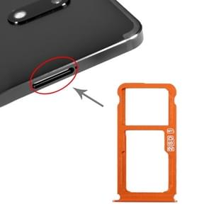 SIM Card Tray + SIM Card Tray / Micro SD Card Tray for Nokia 7 Plus TA-1062 (Orange)