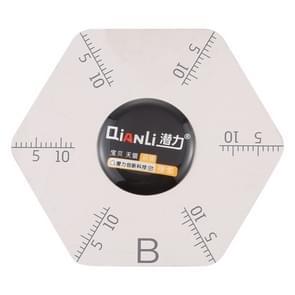 Qianli hexagram vorm pry opening tool met weegschaal
