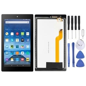 LCD Screen and Digitizer Full Assembly for Amazon Kindle Fire 7th HD 7 2017 HD7 SR043KL  (Black)