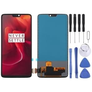 TFT Material LCD Screen and Digitizer Full Assembly for OnePlus 6 A6000(Black)