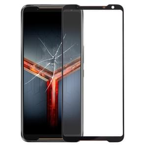 Front Screen Outer Glass Lens for Asus ROG Phone II ZS660KL (Black)