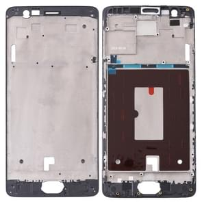 Front Housing LCD Frame Bezel Plate for OnePlus 3 / 3T / A3003 / A3000 / A3100(Black)
