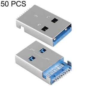 50 PCS Unique Welding Plate 180 Degrees 9 Pin USB 3.0 A Male Jack Plug SMT