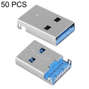 50 PCS Unique Welding Plate 90 Degrees 9 Pin USB 3.0 A Male Jack Plug