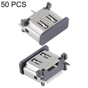 50 PCS Nickel Plating 19 Pin Female HDMI Connector Socket