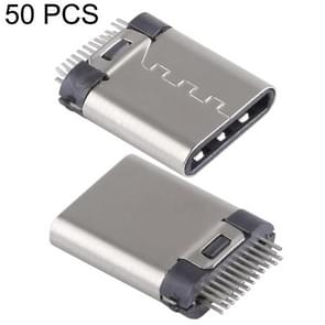 50 PCS USB-C / Type-C Male Splint Connector without PCB Board