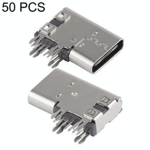50 PCS USB-C / Type-C Female 14 Pin Side Plug Socket Connector