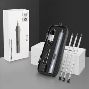 A-012 oplaadbare lithium batterij oplaadbare elektrische boor accu-schroevendraaier set met 8 versnelling torsie (grijs)