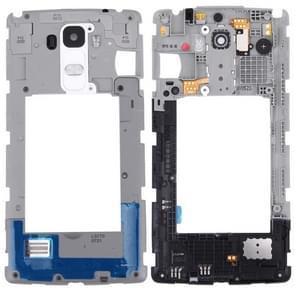 voor LG G Stylo / LS770 / H631 & G4 Stylus / H635 terug plaat huisvesting Camera Lens paneel met spreker Ringer Buzzer(White)