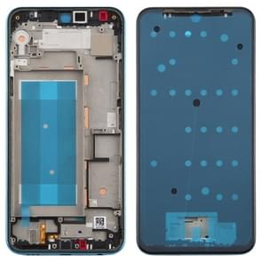 Front Housing LCD Frame Bezel Plate voor LG K50 / K12 MAX / LMX520BMW / LMX520EMW(Double SIM Version) (Blauw)
