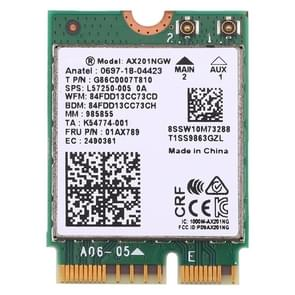 AX201 Bluetooth 5.0 Dual Band 2.4G/5G Wireless NGFF Wifi Card AX201NGW 802.11 ac/ax 2.4Gbps Wlan Adapter
