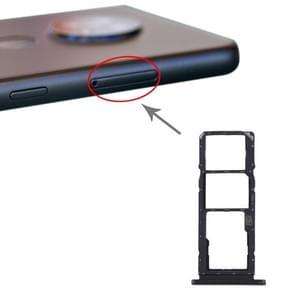 SIM-kaartlade + SIM-kaartlade + Micro SD-kaartlade voor Nokia 7.2 / 6.2 TA-1196 TA-1198 TA-1200 TA-1187 TA-1201(Zwart)