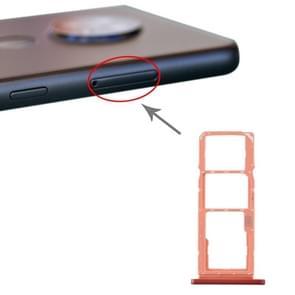 SIM-kaartlade + SIM-kaartlade + Micro SD-kaartlade voor Nokia 7.2 / 6.2 TA-1196 TA-1198 TA-1200 TA-1187 TA-1201(Oranje)
