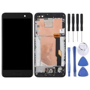 LCD-scherm en Digitizer volledige montage met Frame voor HTC U spelen (zwart)