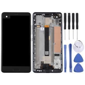 LCD-scherm en Digitizer volledige montage met Frame voor HTC U Ultra (zwart)