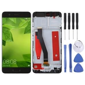 LCD Screen and Digitizer Full Assembly with Frame for Huawei P10(Black)