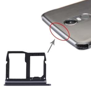 Nano SIM-kaartlade + Micro SD-kaartlade voor LG Stylo 5 / Q720 LM-Q720MS LM-Q720TSW Q720CS (Zwart)