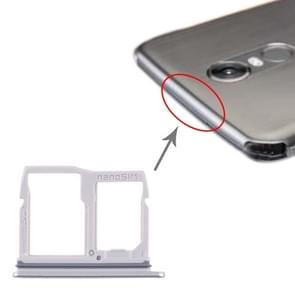 Nano SIM-kaartlade + Micro SD-kaartlade voor LG Stylo 5 / Q720 LM-Q720MS LM-Q720TSW Q720CS (Zilver)