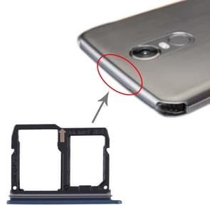 Nano SIM Card Tray + Micro SD Card Tray voor LG Stylo 4 / Q Stylus Q710 / LM-Q710CS / LM-Q710MS / LM-Q710ULS / LM-Q710ULM / LM-Q710TS / LM-Q710WA (Blauw)