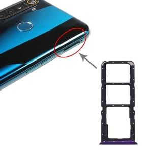 SIM-kaartlade + SIM-kaartlade + Micro SD-kaartlade voor OPPO Realme 5 Pro / Q (Paars)