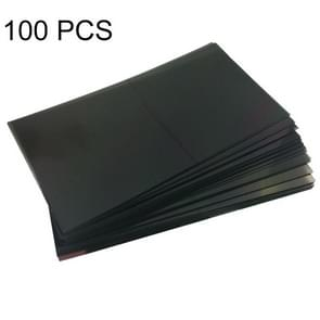 100 pc's LCD Filter polariserende Films voor Huawei Ascend P6