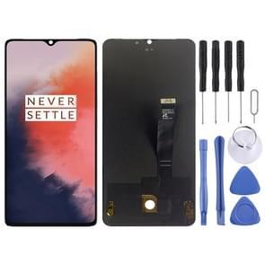AMOLED Materiaal LCD-scherm en Digitizer Volledige assemblage voor OnePlus 7T(Zwart)
