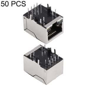 50 PCS RJ45 Network Port Single-port Band Filter 100 Megabytes (911105A), H Type