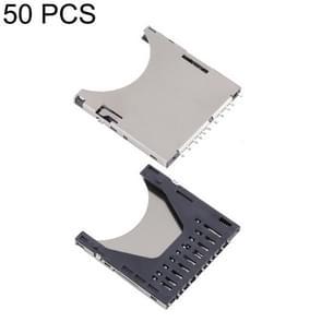 50 PCS 2 in 1 10 Pin SD Card Connector Card Slot Self Push Pop-up PUSH Jack