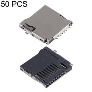 50 PCS Micro SD Welding Card Connector, H Type