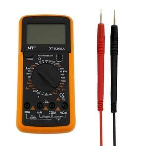NT9205A Universal High Accuracy General Multimeters Manual Range Digital Volt Meter Digital LCD Count Handheld Universal Meter