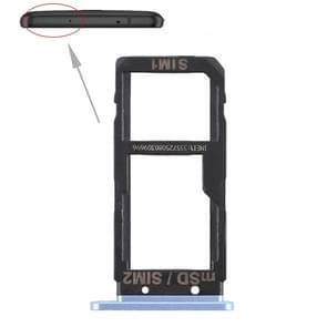 SIM Card Tray + SIM Card Tray / Micro SD Card Tray for HTC U Ultra (Blue)