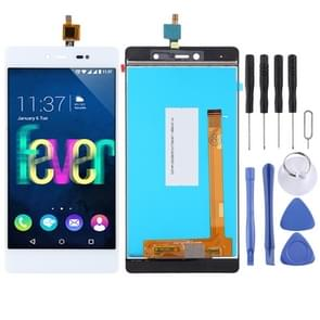 LCD Screen and Digitizer Full Assembly for Wiko Fever 4G (White)