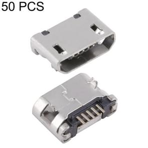 50 PCS Micro USB 5P/F Fixed Foot 5.9 with Positioning Column, without Crimping, J Type