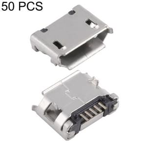 50 PCS Micro USB 5P/F SMT Socket Connector with Positioning Column & Crimping, J Type