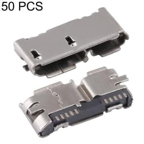 50 PCS Micro USB 3.0 10P/F Fixed Foot Full Patch with H Band Edge