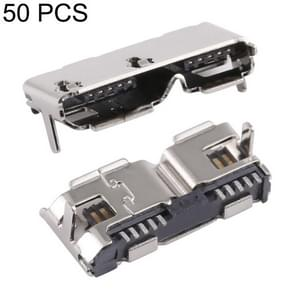 50 PCS Micro USB 3.0 Connector 10P/F Fixation Pin Foot 12.55, H Type